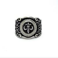 Best Gift New Titanium Steel rings Handmade Retro Cross Man Ring Men Jewelry Free Shipping LJR022