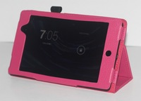 10pcs/lot Wholesale Cheapest Best Litchi 2 Folds Flip Leather Stand Cover Case for Google Nexus 7 II 2nd 2013, GOO-006