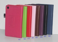 Free Shipping! For Nexus 7 2nd 2013 Flip Leather Cover, Litchi Leather Stand Case for Google Nexus 7 II 2, GOO-006