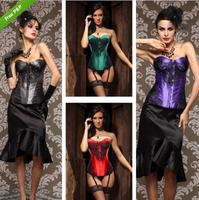 Women 's Fashion Bustier Corset Top Burlesque Basque M oulin Rouge Corset Plus Size