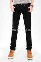 Freeshipping new arrival men's fashion black jeans famous brand,cotton denim slim straight trousers designer jeans men full size