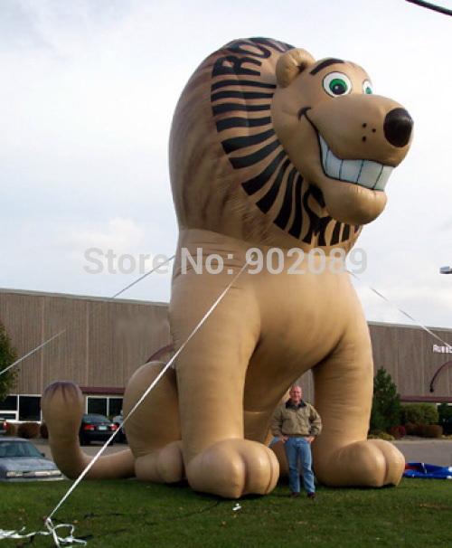 frete grátis para 4m modelo inflável leão, leão inflável quente balão à terra, alta qualidade leão para publicidade(China (Mainland))