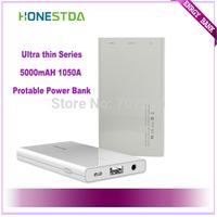 HONESTDA Ultra thin Series Ultra 003 1050A 5000mah Protable  Fashion Power Bank Free Shipping