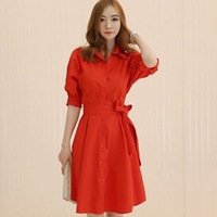 ( Special ) 2014 new fashion Korean version of elegance red dress