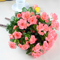 [3 color] Azaleas silk decorative flowers dried artificial flower wedding party holiday home decorations