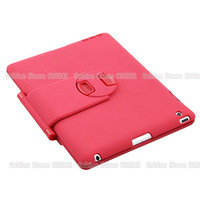 Red Portable Aluminum wireless folding rotate 360 degrees bluetooth 3.0 keyboard Case cover for ipad2/ipad3/ipad4 tablet PC