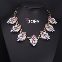 JOEY.Hot Vintage Fashion Necklaces 2014 Statement Necklace Gem Crystal necklaces & pendants Chokers Necklaces women FreeShipping