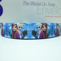 25 Yards 7/8'' 22mm Sublimation Printing Frozen Best Sisters Grosgrain Ribbon Wholesale