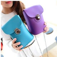 Mortise lock mobile phone bag mini bag shoulder bag