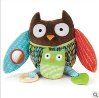 3pcs/lot New arriving Free shipping  Mutifunctional owl baby comfort doll for boy and girl Educational toys to teach kids