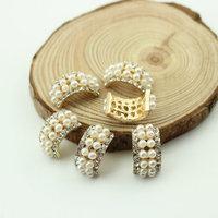 Free Shipping Wholesale 10*18mm Flat Back Rhinestone Button For Hair Flower Wedding Invitation 40pcs/lot BHP14017