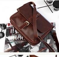 Vintage women bags genuine leather messenger bag crazy horse leather handbag fashion preppy style handbag messenger bag
