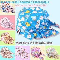 10pcs/lot Colorful Baby Baby Hats Kids Caps Infant Pirate Cap/Cotton Elastic Skullies Boys Girls for /3 - 24 Months WholeSale