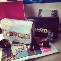 Promotion! Brand new Women Shoulder bag Special Offer Leather glaze pure color Women Cowhide Handbag Free Shipping