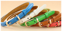 Korean version of the new candy-colored thin leather belt factory wholesale X7599