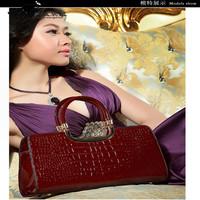 Free Shipping Bestselling Howe Kangaroo all-match fashion crocodile pattern cowhide lady women's handbag  wholesale or retail
