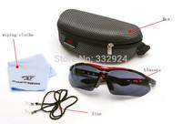 Free Shipping 4 piece lenses riding bicycle glasses eyewear male Women outdoor sports eyewear frame Sunglasses
