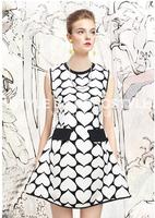 Summer Dress 2014 Fashion Vestidos Chiffon High Quality Fashion Desigual Heart Slim One-piece Casual Dress For Summer Wear A 40