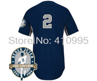 Cheap New York Baseball 2014  Authentic 2 Derek Jeter Road Cool Base BP Jersey w/Derek Jeter Commemorative Retirement Patch