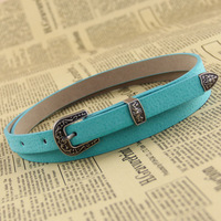 Retro fashion super wild candy mixed pigskin leather belt X7574