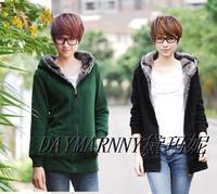 Winter Brand Women's Mid-long Long-sleeve Sweatshirt Casual Zipper Thickening Hoodies Plus Size L-5XL Cardigans Outerwear Coat