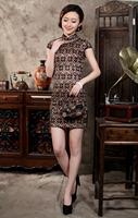 2014 Fall and Summer Women's National Wind Lace Cheongsam Dress Slim Size S - XXL LS0004 - Free Shipping