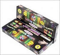 Free Ship 100sets Loom Bands Kits Fun Loom Rubber Bands Kit DIY Bracelets Colorful Children Toy Gift For Jelly Bracelet Bangle