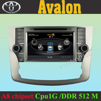 S100 Car GPS DVD Head Unit Car Radio Stereo for Toyota Avalon with Wifi / 3G Host TV Radio Stereo 1G CPU and 512M DDR