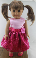 """Free shipping!!! hot 2014 new style Popular 18"""" American girl doll clothes/dress"""