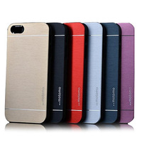 For iphone 6/6plus Deluxe Aluminum Motomo Metal Phone CaseHard Back  Case Cover for iphone 5/5S 6Colors Available