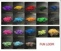 10bags 600 PCS 24 Clips glitter rubber light in the dark luminous rubber Loom Refill DIY Bracelet Anklet
