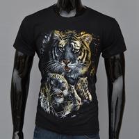Hot!!!New Fashion High Quality 100% Cotton T-shirts For men, 3 D Punk Short Sleeve T-shirt Men's Leisure, Free shipping