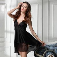 new 2014 sexy lace women sleepshirt / embroidery floral women sleepwear quality elegant summer pajamas nightgown  Free shipping