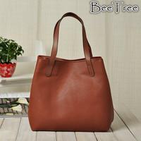 Free shipping wholesale retail plain color black brown cream orange high quality women pu leather shoulder bag