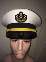2014 Luxury White navy captain cap men crew captain military army cap white sailor cap high quality fashion navy sailor hat