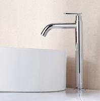 Elegant Chrome Stainless Steel Tall Single Function Bathroom Vanity Sink Faucet / Basin Tap / Torneira Mixer (K-7)