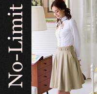 2014 women blouse tops for women cotton long sleeve professional Formal shirt camisas femininas blusa renda