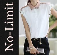 2014 summer women blouses sleeveless Chiffon shirt cool large size Cute blusas femininas blusa