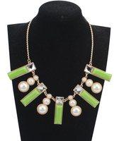 Pearl necklace bubble Bib cluster Charm beadwork chunky Tassel Rhinestone Geometric rectangular resin necklace