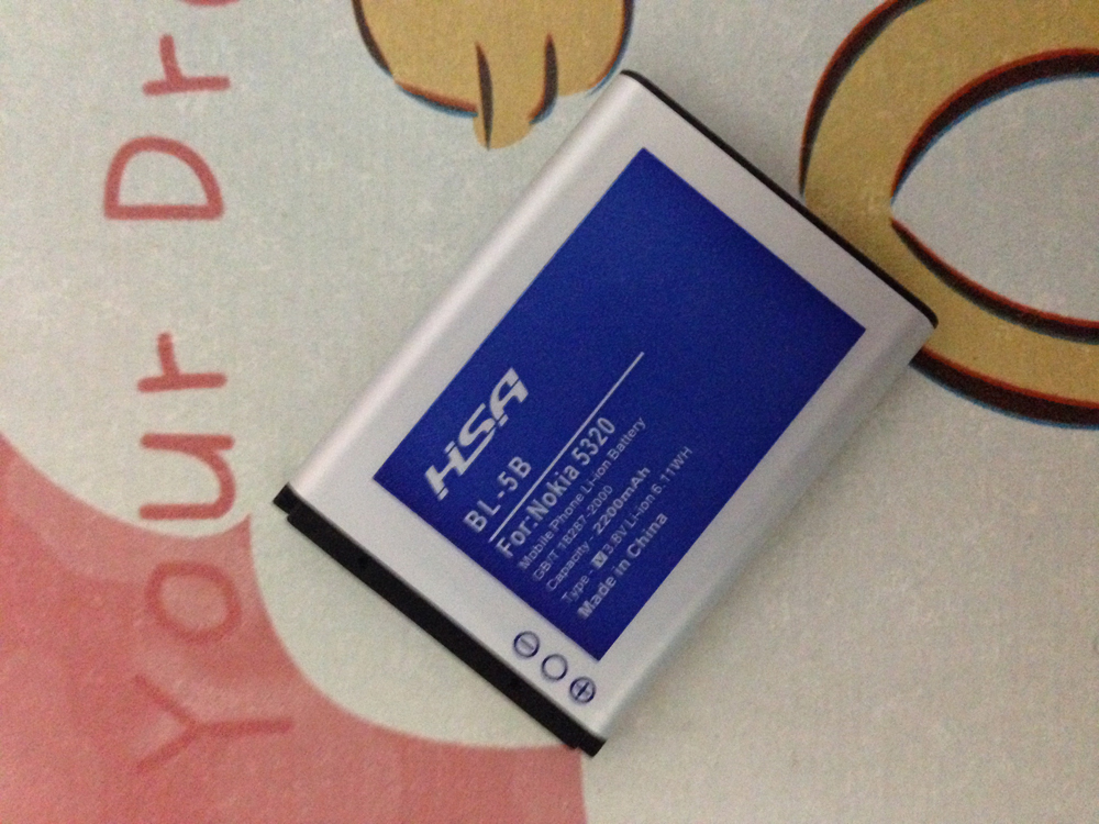 5pcs/lot 2200mAh BL-5B / BL 5B Battery for Nokia 3230/5070/5140/5140i/5200/5300/5500/6020/6021/6060 etc Mobile Phones(China (Mainland))