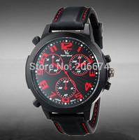 NEW V6 Super Speed V0190 Large Face Dial Body Style Unisex Analog Quartz Military Watch free shipping