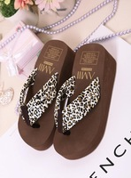 New 2014 Summer beach slippers wedges platform flip flops Sponge bottom sandals ladies shoes