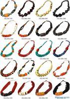 MW-08 Best Mix Wholesale Tibetan Ethnic Yak Bone Big Beads Necklace,Nepal India Handmade BOHO Jewerly,Free shipping