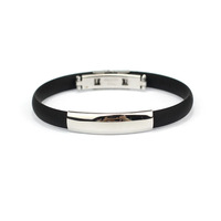 """Superb! Bracelet Stainless Steel Cuff Silicone Bangle Hand Chain Men""""s Jewelry Freeshipping&Wholesale Allipower"""
