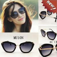 Fashion Summer Sun Glasses Coating Sunglass Gafas De Sol Cat Eye Sunglasses Women Brand Designer Vintage Oculos Feminin 1301-1
