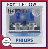 H4 Freeshipping 100% Original Genuine Blue Diamond  5000K bright white light h4 12972 car distance light bulb