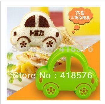 atacado 10 pcs cozinha home fornecer ferramentas carro bonito formato sanduíche pão torradas bolo cookie molde do cortador fabricante de moldes almoço dos miúdos(China (Mainland))