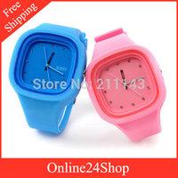 20pcs/lot  2014 new Fashion zgo Jelly Silicone wristwatches men Sports watches Quartz Watch Women Dress Watches