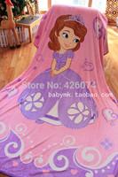 New Arrival Sofia The Frist  Princess Blanket Children Cartoon Carpet Coral Fleece Fabric Throw Gilrs Sheet Free Shipping