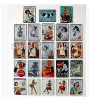 Free shipping 8x11cm sexy lady, drinking,girls,Mini retro vintage metal painting Bar Decor Retro MetalPoster